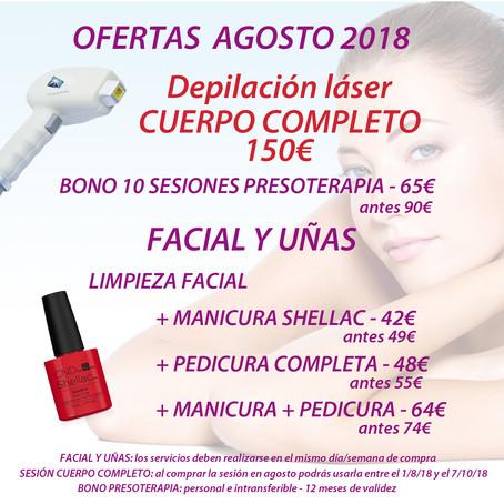 Ofertas de Agosto 2018