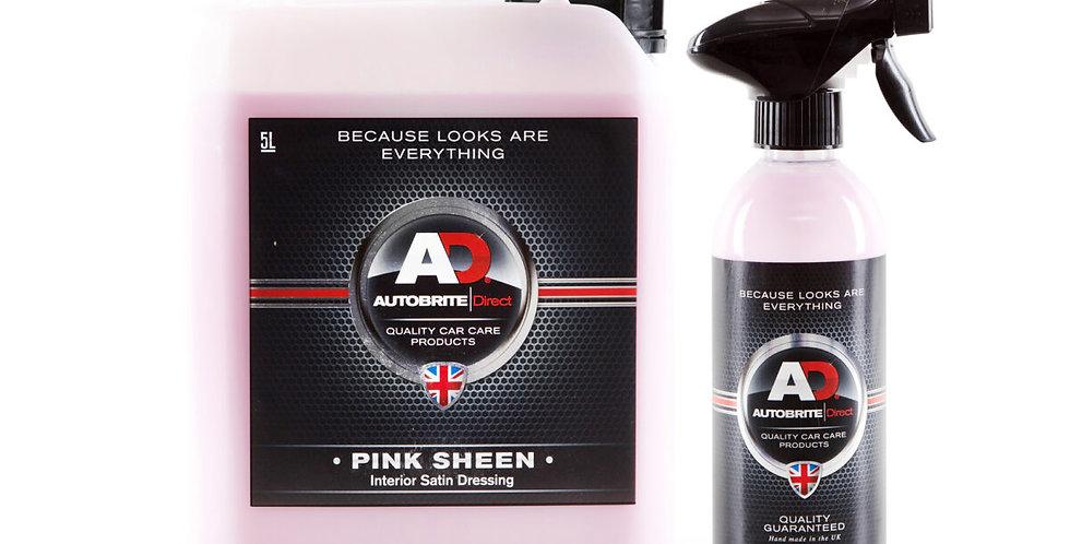 Pink Sheen satin finish plastic dressing