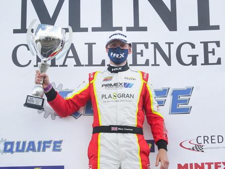 Coates wins on MINI CHALLENGE debut