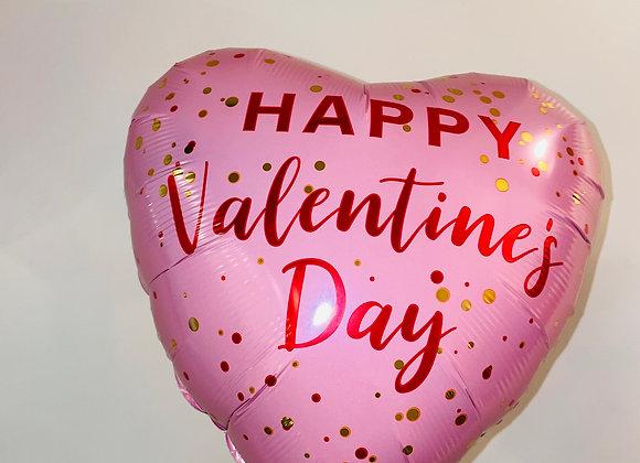 Happy Valentine's Day Heart Balloon, 18in