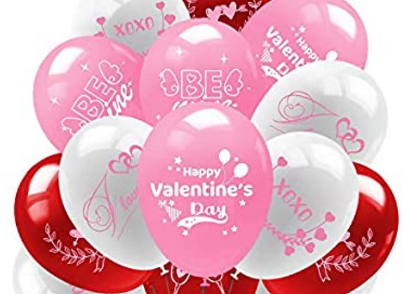 Assorted Latex Valentine's Day Balloons