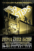 Poster for The 39 Steps at Gallery Players