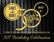 """50th Anniversary """"Save the Date"""" card designed by Mark Harborth"""