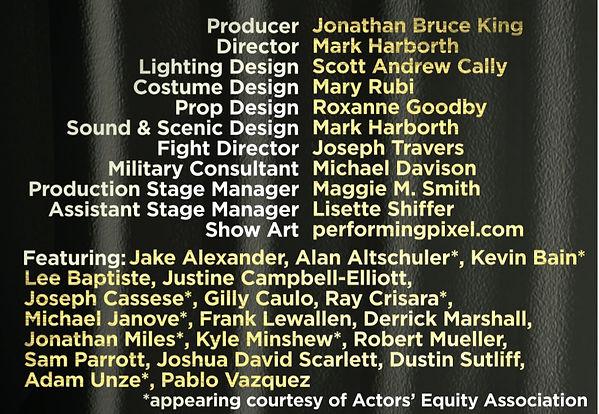 A Few Good Men staff and cast