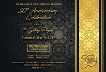 Gala invitation card