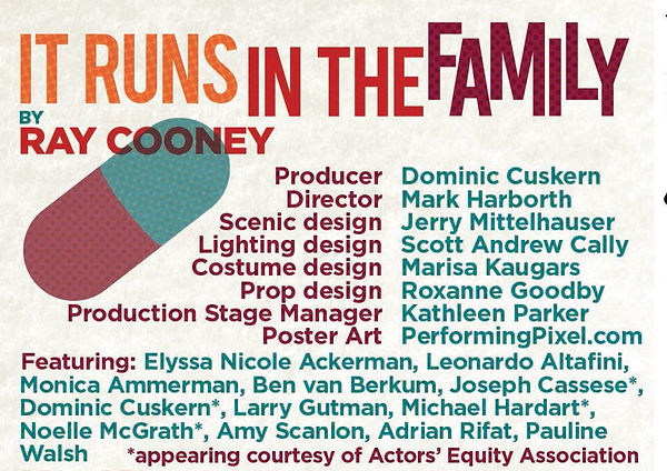 Staff and cast of It Runs in the Family