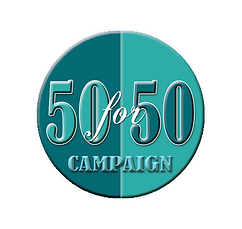 Logo design for 50-for-50 campaign