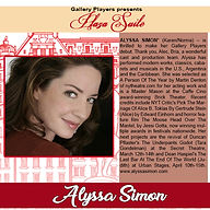 Bio for Alyssa Simon - Plaza Suite