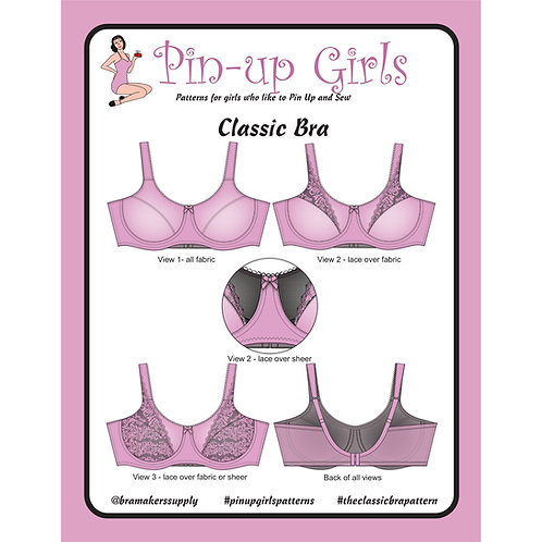 Classic Full Band Underwire Bra, Optional Non-Wire Pattern Only