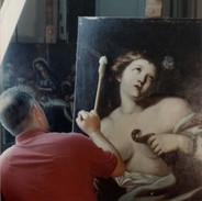 In the studio in Rome, sometime in the '90s...