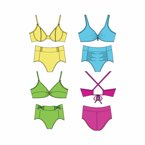 Three Sisters Bikini Pattern - Price For Pattern Only