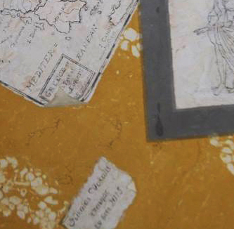 Table top with a map