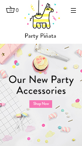 Events website templates – Party Accessories Store