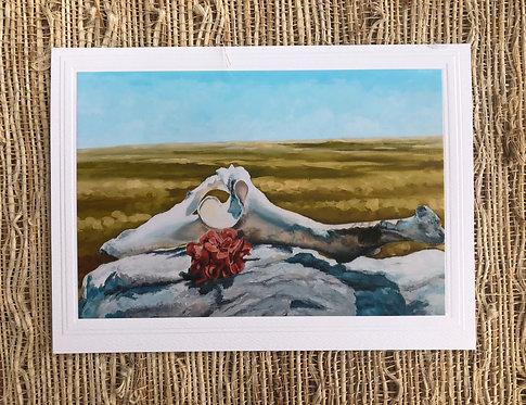 Goat Pelvis on Stone Art Card