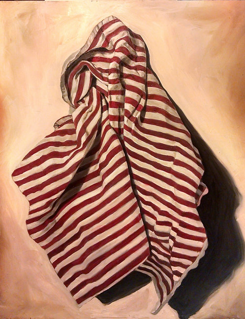 Kitchen Towel Study, In Red