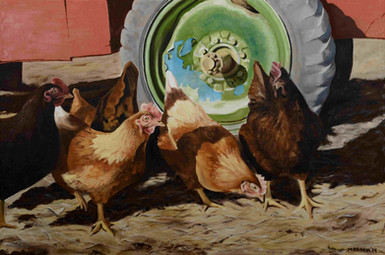 Hens Outside the Coop