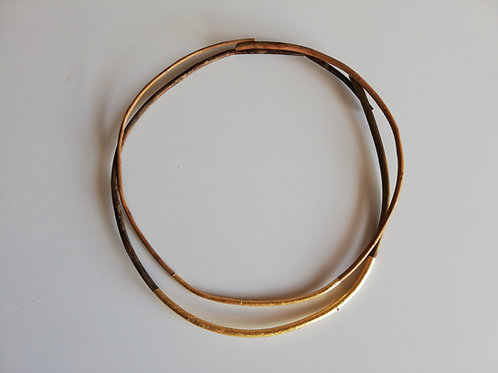 Willow chokers with gold metal leaf