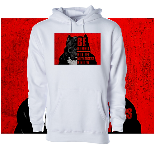 GRIMM Be Humble Hoodie w/Red Background