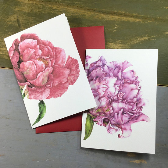 "Set cartoline ""Due Peonie"""