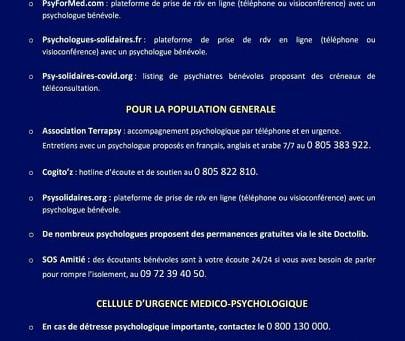 Plateforme gratuite d'aide et de soutien psychologique