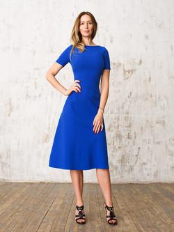 Платье с коротким рукавом