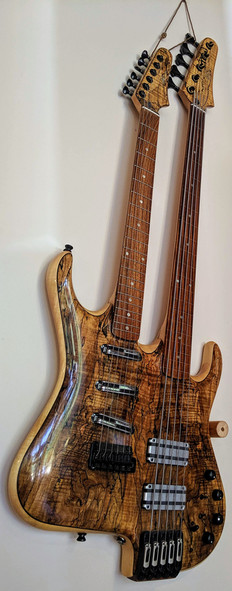 Double Neck Guitar and 5-Stringed Bass   By David Enke