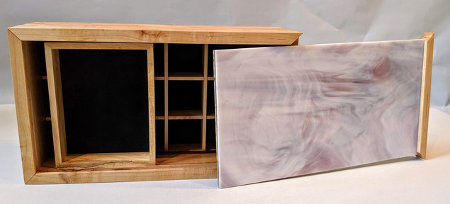 Jewelry Box - Figured Maple and Glass