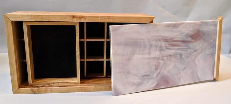 Jewelry Box - Figured Maple and Glass