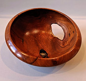 Bowl with Live Edge Holes