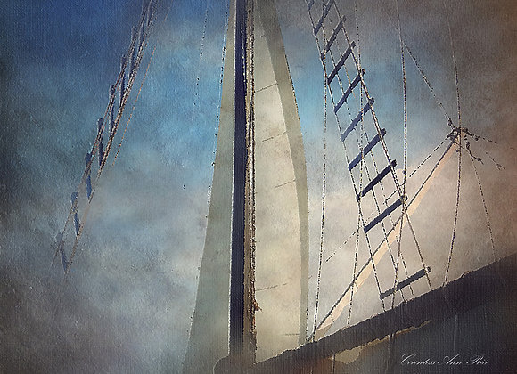 Onboard Rigging Oil Painting Canvas