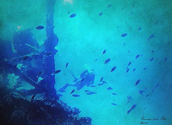 Deep Blue Dive Canvas