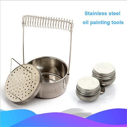Stainless Still Painting Brush Washing Bucket Pen Barrel