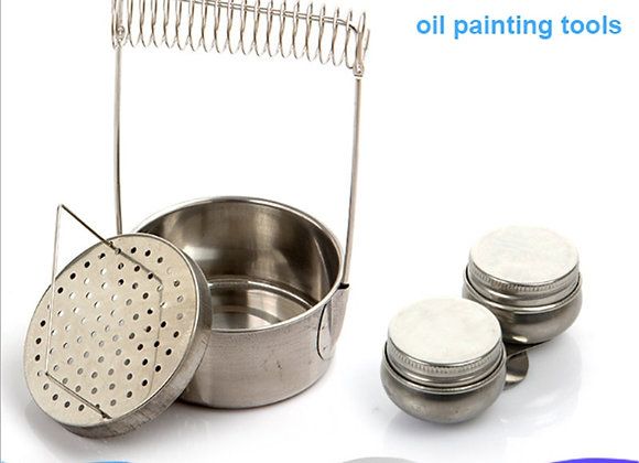 Stainless Still Painting Brush Washing Bucket Pen Barrel