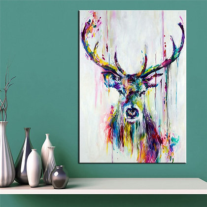 Pop Art Canvas Painting Animal Deer Pictures Canvas Print Posters Unframed