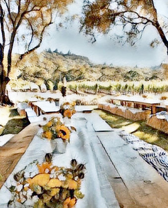Outdoor Dining Canvas