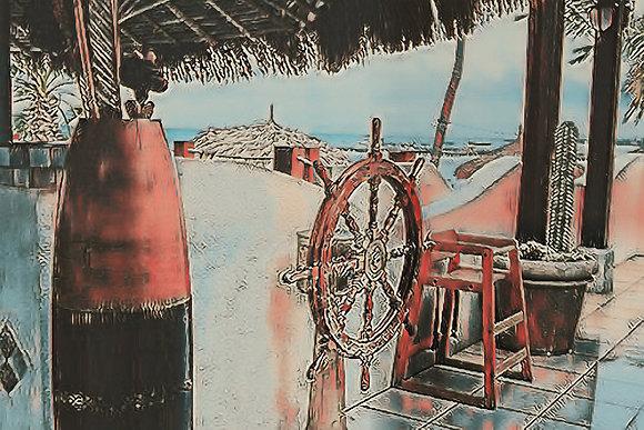 Abstract Nautical Still Life Canvas