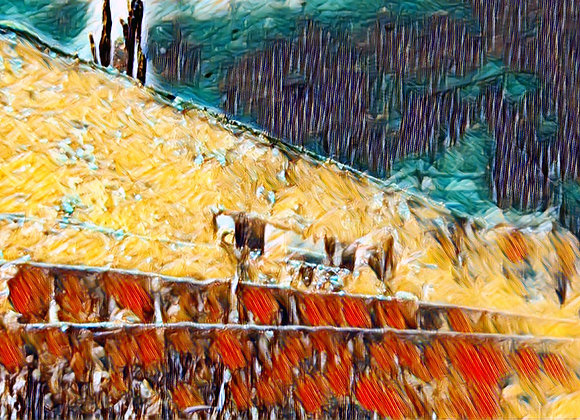 Abstract Antilla Wreck Canvas
