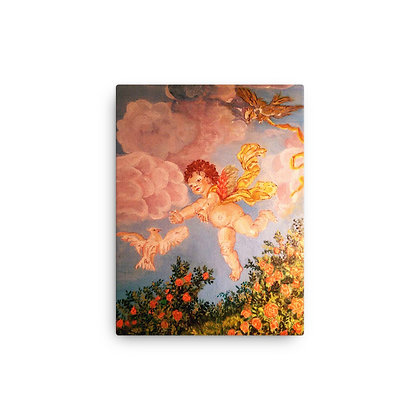 Angel and Bird At Play Canvas