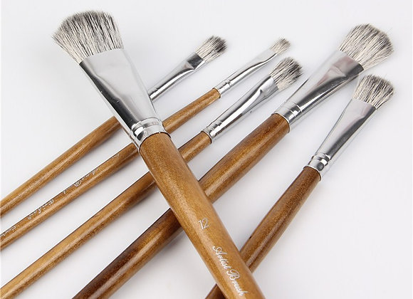 Squirrel Hair Paint Brush Set