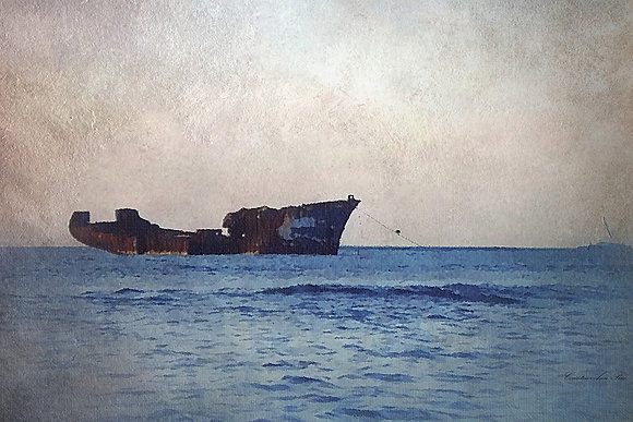 Wreckage Afloat Canvas