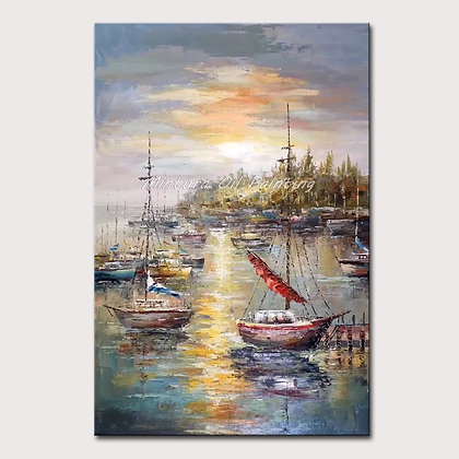 Fishing Ports and Boats Wall Picture