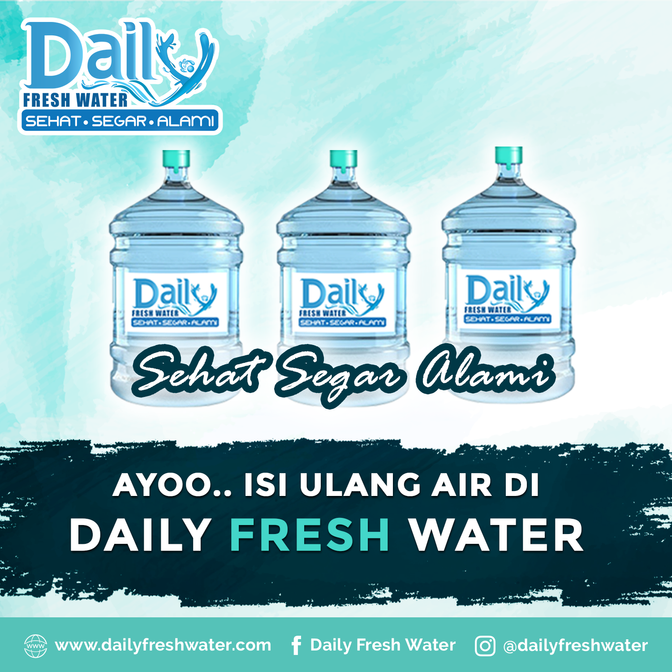 Ayo isi Ulang Air di Daily fresh Water