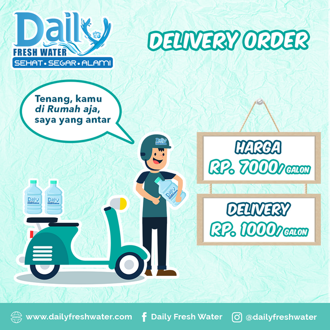 Delivery Order Daily Fresh Water