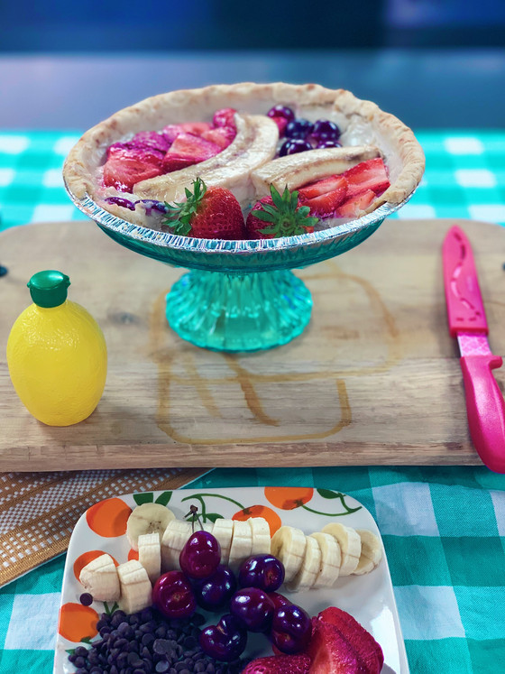 Serving Up a Healthier Banana Split Pie Recipe That's Also Gluten and Dairy Free