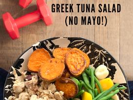 Greek Tuna Salad Lunch Recipe for 2 Under Ten Minutes