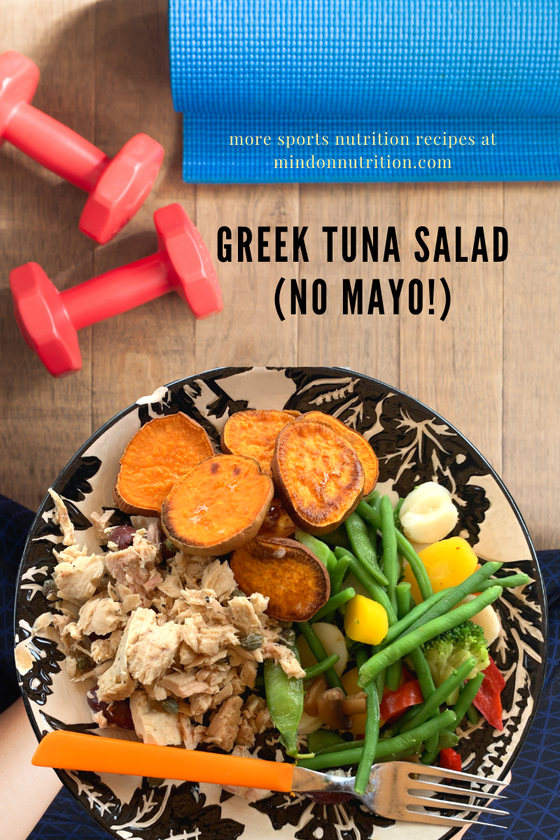 Greek Tuna Salad Lunch Recipe for 2 Under Ten Minutes