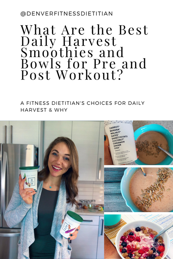 What Are the Best Daily Harvest Smoothies and Bowls for Pre and Post Workout?