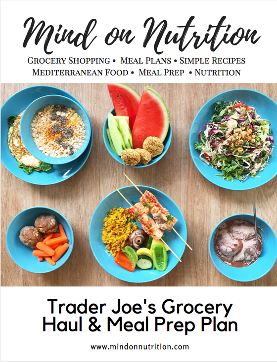 A Free Trader Joes Grocery List , Meal Prep Plan and Menu Ideas for 2 People.
