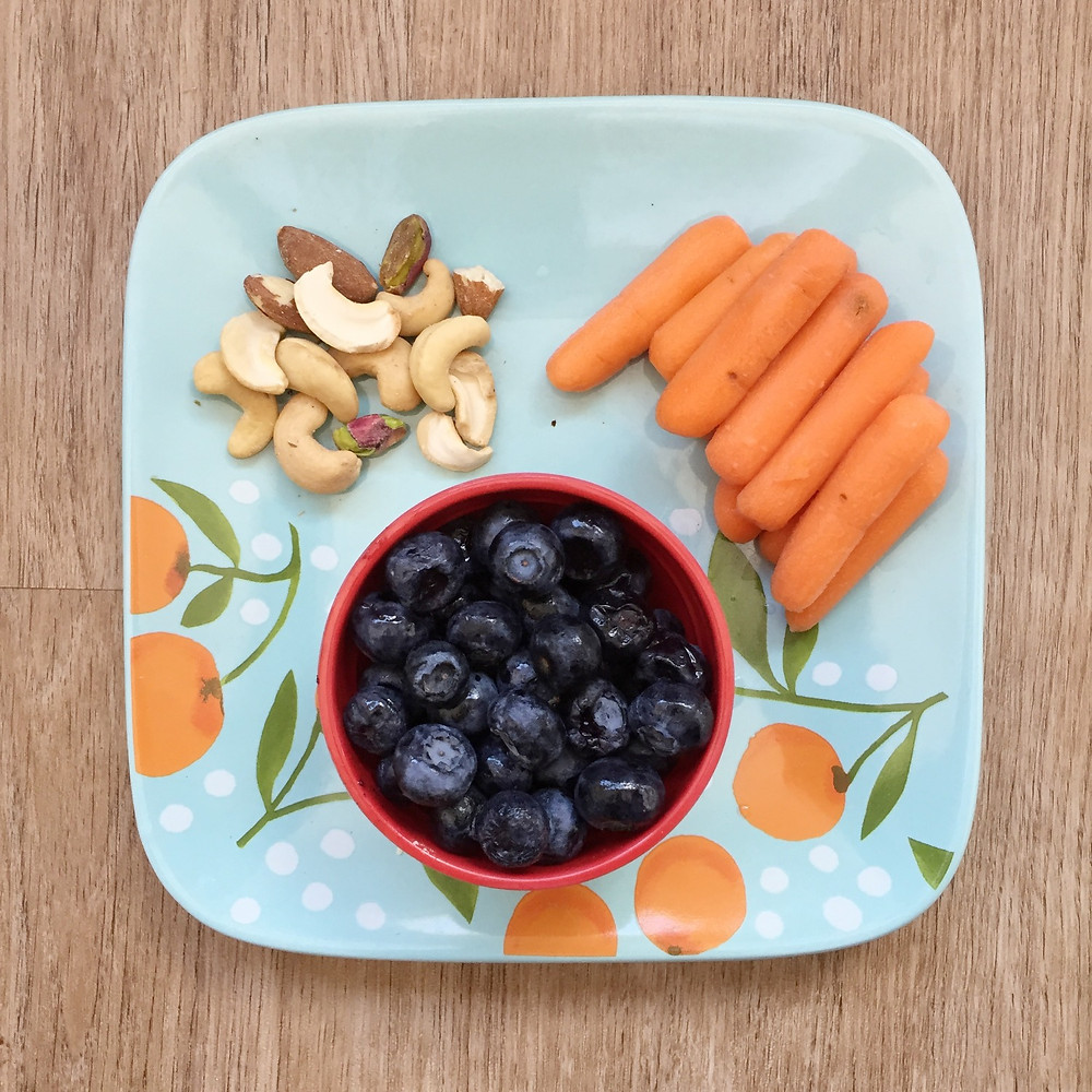 Shmorgasboard blueberries carrots mixed nuts