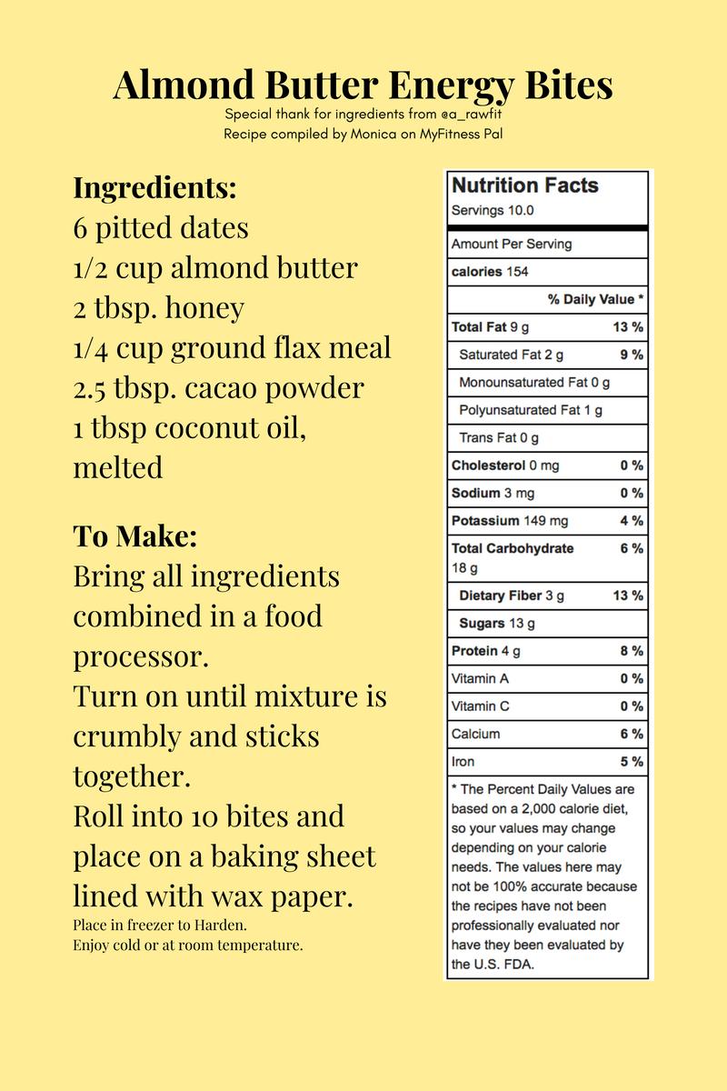 mind on nutrition popular pre workout snacks almond butter energy bites recipe